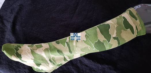 Camouflage green textile short leg cover w/closed toe cover