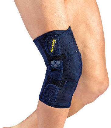 Patella knee brace stabilizer w/ C-rings bilateral buttresses