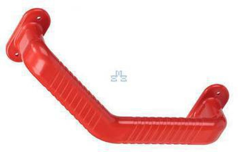 Angled grab bar Ashby Safety grab bar rail red